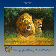 canvas oil paintings of lion handpainted high quality