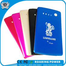 3500mAh dual USB output wallet style smart power bank for smartphone