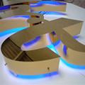 fuente luminosa led caja de luz signo de la letra