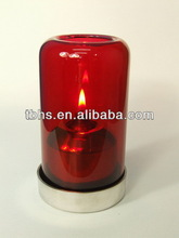 Aurora colored glass table oil lamps