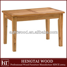 2014 durable white solid wooden dinning table