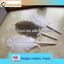 Feather flashing pen,flashing pen,feather pen logo pen for promotion