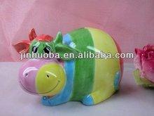 Ceramic new designed colorful buffalo money box & animal money box