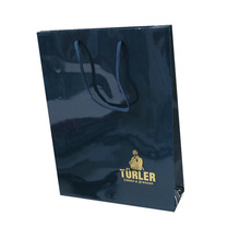 Cast coated paper bag