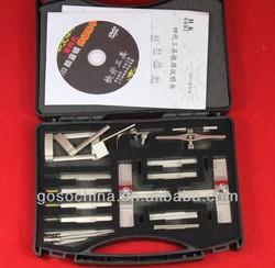 GOSO LOCKSMITH CIVIL USE TOOLS--1-103 four standard tinfoil pick set