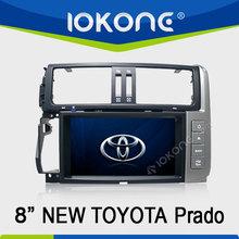 "factory 8"" HD Touch screen 2 din after 2010 toyota prado 2012 car dvd with gps, TMC, camera, mic, dvb-t"