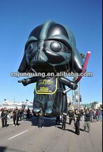 2014 nuovo gigante gonfiabile nero modello cavaliere