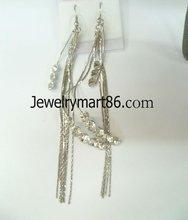 basketball wives inspired long tassel earrings/poparazzi/celebrity style YH115