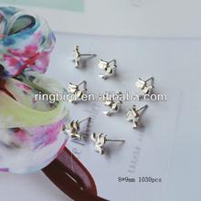wholesale customized silver alloy pigeon birds of peace earrings friend lucky earrings