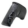 Custom Black Cute Skull Golf Club Putter Head Cover PU Leather HeadCover