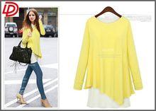 Wholesales Women Plus Size clothing & O-Neck Tshirt Fashion Tops Long Shirt Oversize OEM Service Manufacture Factory