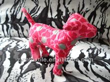 printing pink dog toys brand new plush dog