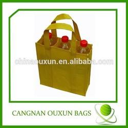 Wholesale non woven wine bottle tote bag
