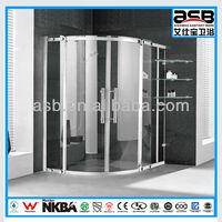 framed round 8mm glass folding bathtub shower door