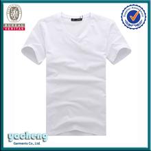 2014 fashion v-neck white women t-shirts wholesale