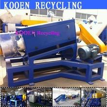 KOOEN export waste plastic pet bottle pe pp film crushing recycling machines