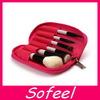 Sofeel protable makeup brush bag 6pcs custom cosmetic brush set