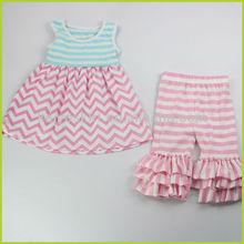 2015 summer new design wholesale infant girl chevron dresses