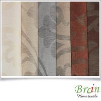 unique poly jacquard flower design cut-out curtain fabric