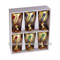 Electrochapa vidrio bebida conjunto, chapado en oro 6 piezas de vidrio de la copa conjunto/vajilla conjunto