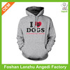 """popular """"I love dogs"""" print mens pullover hoodie"""