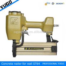 14 gauge metal air gun concrete nailer for decorative trims ST64