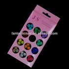 2014 Hot Sale Mixed 12 Colors 60 Pcs/Set 3D Nail Art Round Diamond Decoration Professional Set ,FN-80