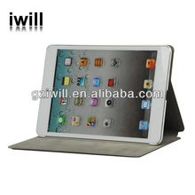 Special leather case for ipad mini,for ipad leather cases with a relief pattern design in china
