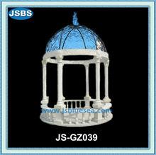 design classico pilastro di pietra bianca gazebo per la decorazione del giardino