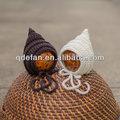 La naissance crochet tricot chapeau lutin, bonnet bébé crochet, la photographie prop