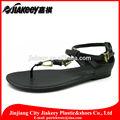 verano caliente de diseño de moda de plástico de pvc de la hebilla en el tobillo t correa de sandalias flip flop