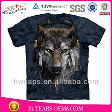 Wholesale OEM custom 3d printing t-shirt animal printed 3d t-shirt