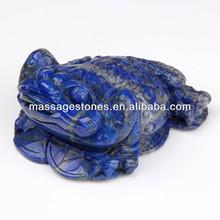 Lasurite, lapislazzuli pietra, rana di pietra figurine