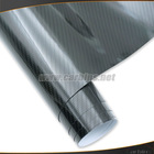 2014 New arrival , black 5D glossy carbon fiber car wrap vinyl roll film , high quality carbon fiber sheet 1.52*20m