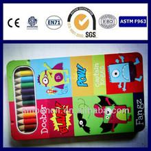 ECO-friendly rainbow color pencil with metal box pass EN71-3,ASTM4236
