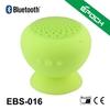 Mushroom shape silicon sucker low price green bluetooth speaker