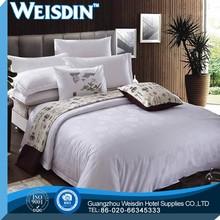 European style cotton white and orange bedding set for home