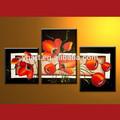 Venta al por mayor de flores pintado a mano imagen, moderno acrílico flora grupo de pintura