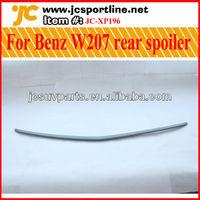 Unpainted Gray primer pu material W207 rear spoiler for Mercedes Benz W207 trunk lip, car boot spoiler lip