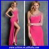 ED-2767 One sleeve dress patterns 2014 one long sleeve prom dress