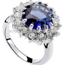 latest design fashion crystal diamond ring women ring wholesale