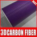 super calidad ts cubierta de la pc envuelva la película d 3 vinilo fibra de carbono de vinilo 3d etiqueta de película de carbono de color púrpura
