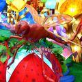 pantalla animatronic creativo de recreación animatronic libélula