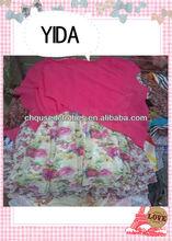 used clothes/used clothing/ korea used clothing, /fashion and shinning silk dress
