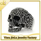 Gothic stainless steel skull ring