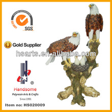 24''H Resin eagle, polyresin glede, lively bird on the tree