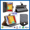 C&T Black Stylish for wallet card leather case samsung galaxy note 3