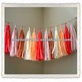 De alta calidad de papel de seda guirnalda borla/vivero/aula/cumpleaños/decoraciones del partido