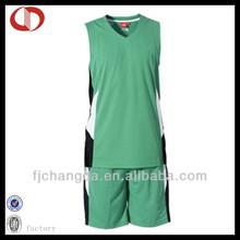 Custom 100% polyester basketball uniform design green