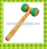 Promotional wholesales engraved walking stick&massage roller &facial massage
